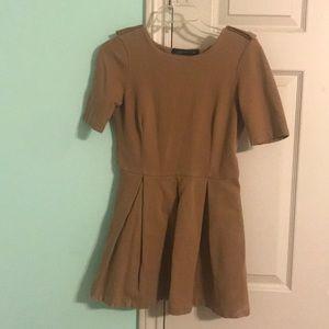 Zara pleat mini dress